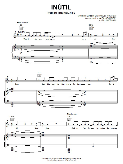 Inutil Sheet Music