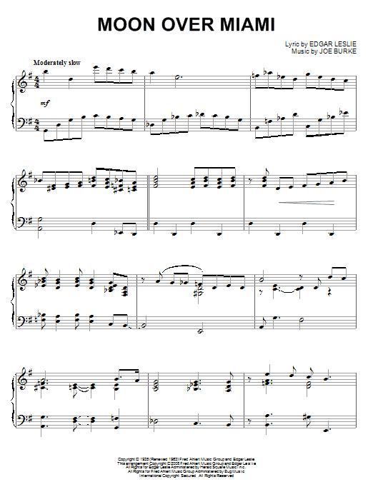 Moon Over Miami (Piano Solo)