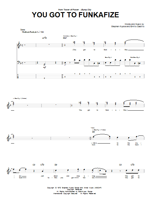 You Got To Funkafize Sheet Music