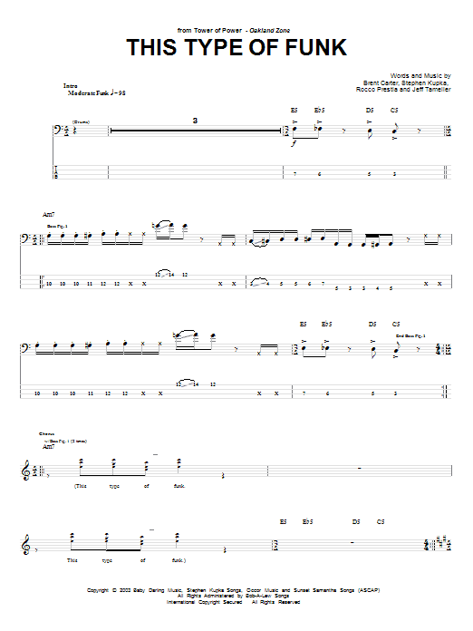 This Type Of Funk Sheet Music