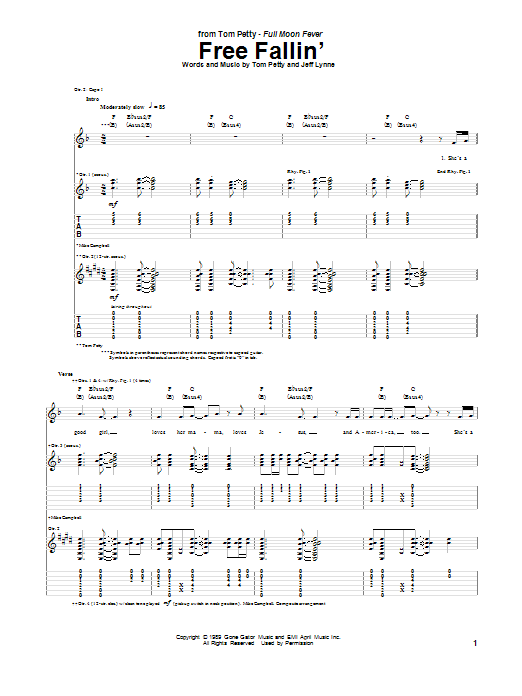 tom petty wildflowers authentic guitar tab free pdf