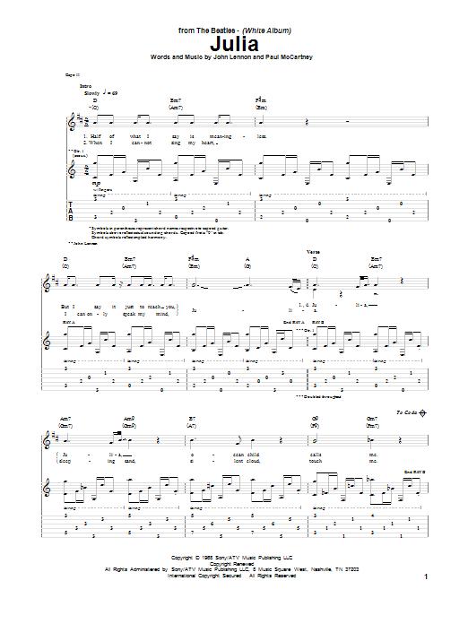 Julia Sheet Music