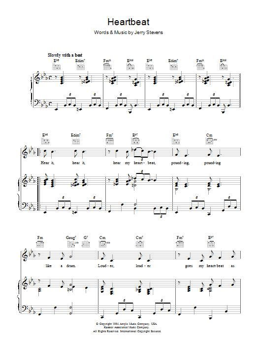 Heartbeat (Piano, Vocal & Guitar)