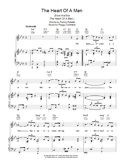 The Heart Of A Man Sheet Music