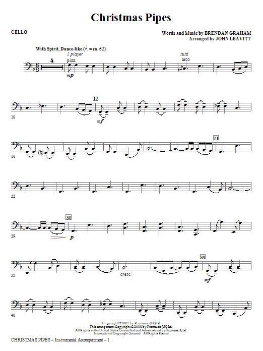 Christmas Pipes - Cello Sheet Music