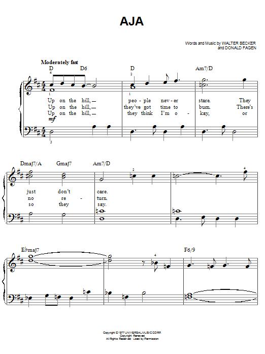 Partition piano Aja de Steely Dan - Piano Facile