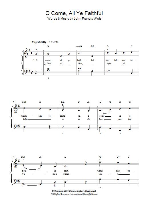 O Come, All Ye Faithful (Adeste Fideles) Sheet Music