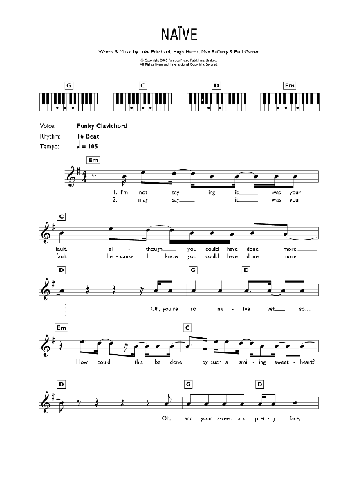 Naive Sheet Music