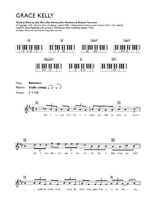 Grace Kelly Sheet Music