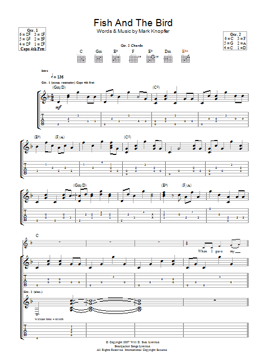 The Fish And The Bird Sheet Music