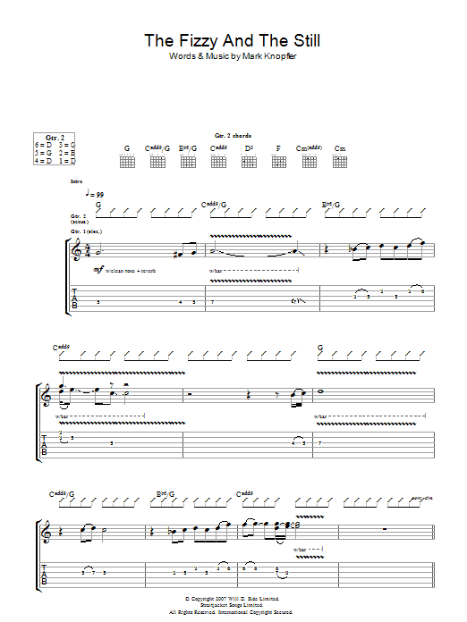 The Fizzy And The Still (Guitar Tab)