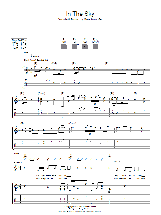 In The Sky Sheet Music