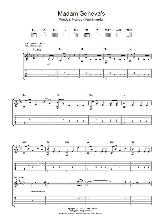 Madame Geneva's (Guitar Tab)