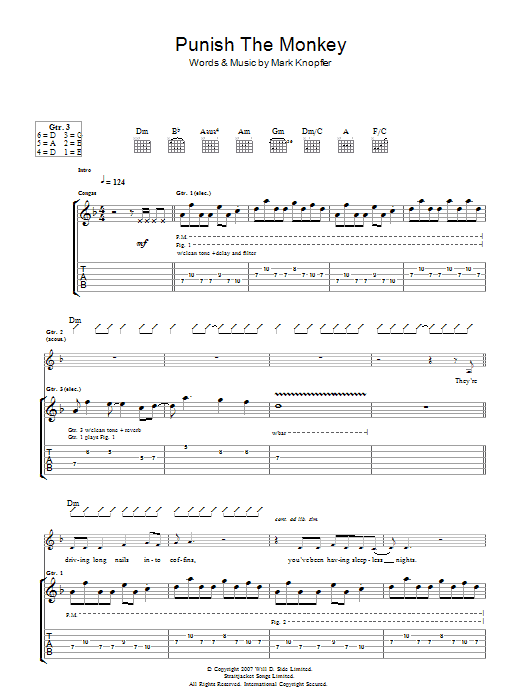 Punish The Monkey Sheet Music