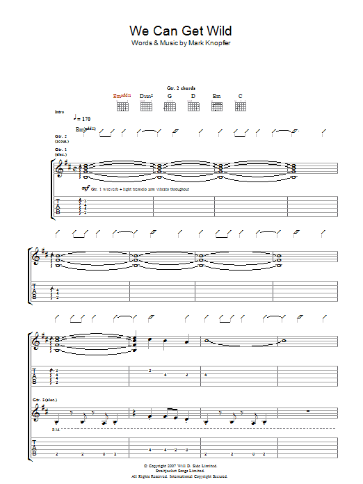 We Can Get Wild (Guitar Tab)