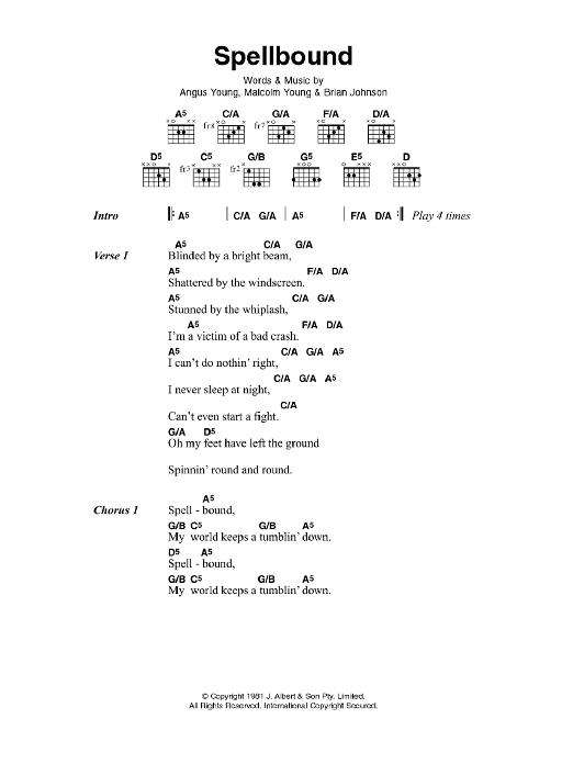 Spellbound (Guitar Chords/Lyrics)