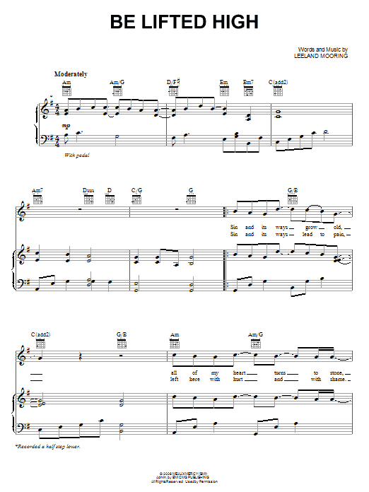 Be Lifted High (Piano, Vocal & Guitar (Right-Hand Melody))