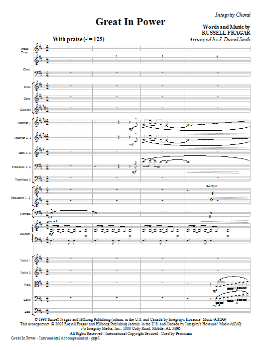 Great In Power - Full Score Sheet Music
