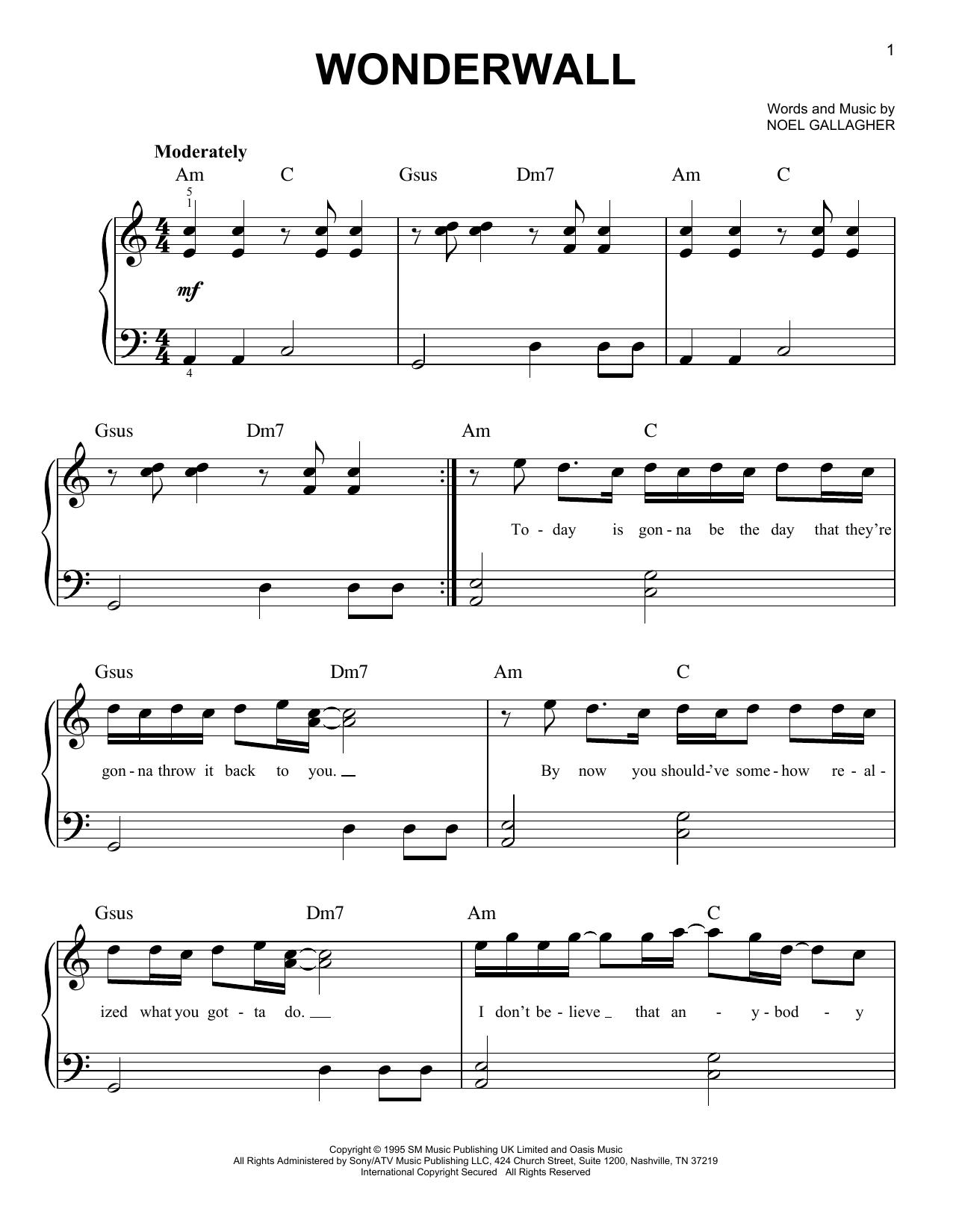 Wonderwall : Sheet Music Direct