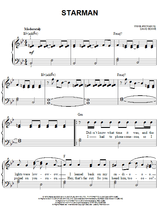 Starman (Easy Piano)