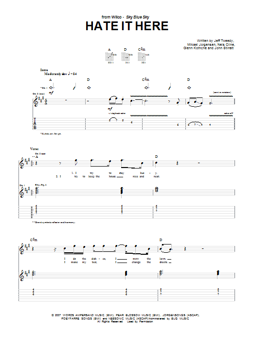 Hate It Here Sheet Music