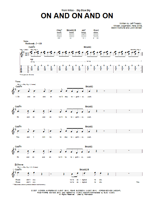 On And On And On (Guitar Tab)