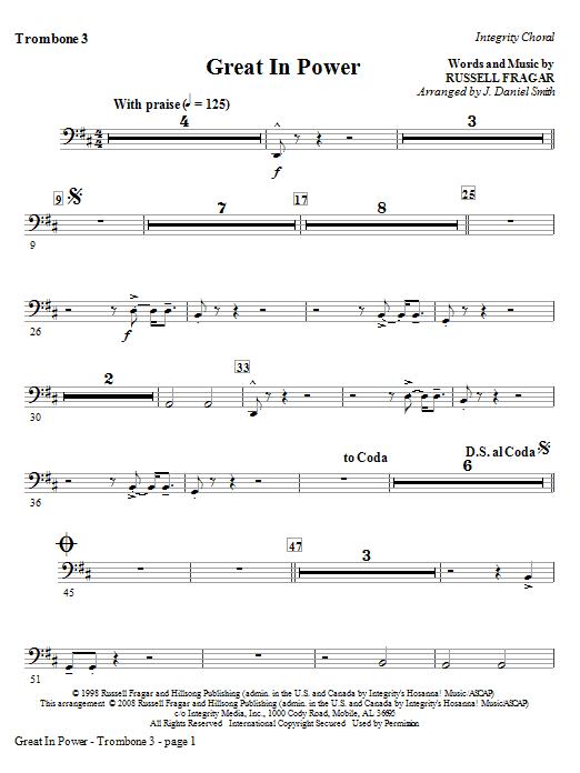 Great In Power - Trombone 3 Sheet Music