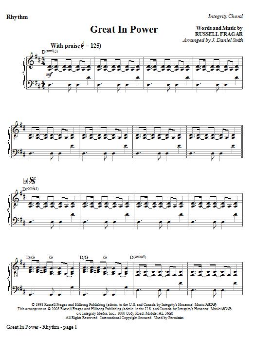 Great In Power - Rhythm Sheet Music
