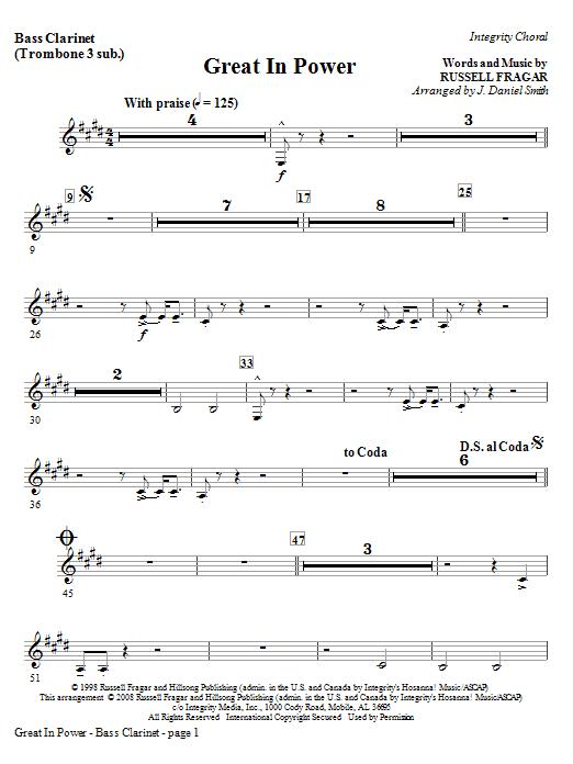 Great In Power - Bass Clarinet (Tuba sub) Sheet Music