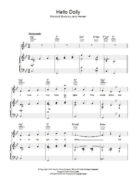 Hello Dolly (Piano, Vocal & Guitar)