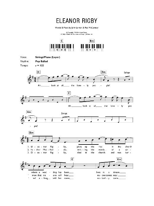 Eleanor Rigby | The Beatles | Keyboard