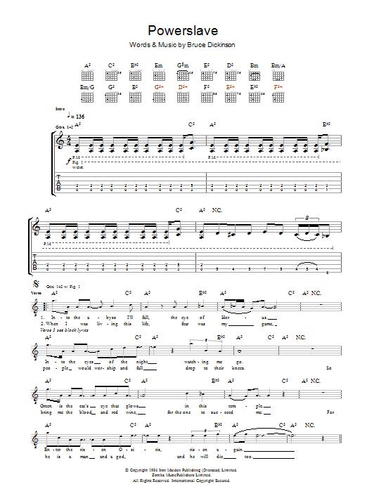 Powerslave (Guitar Tab)