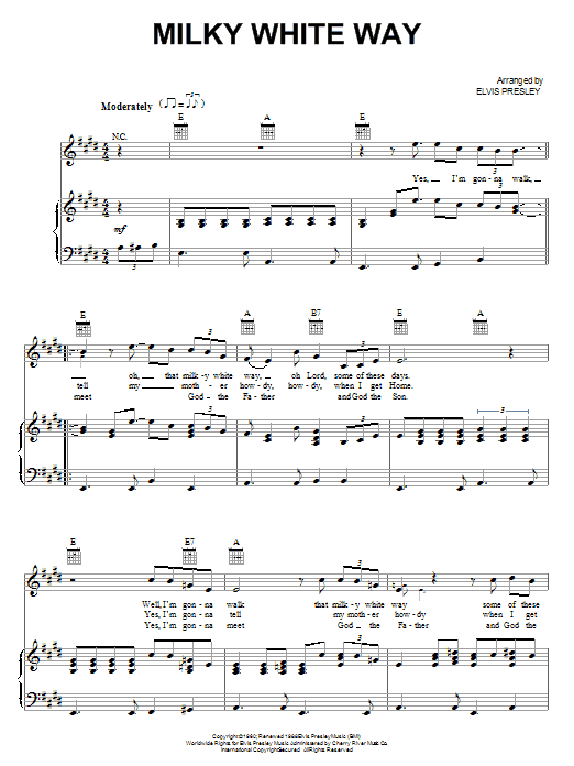 Milky White Way Sheet Music