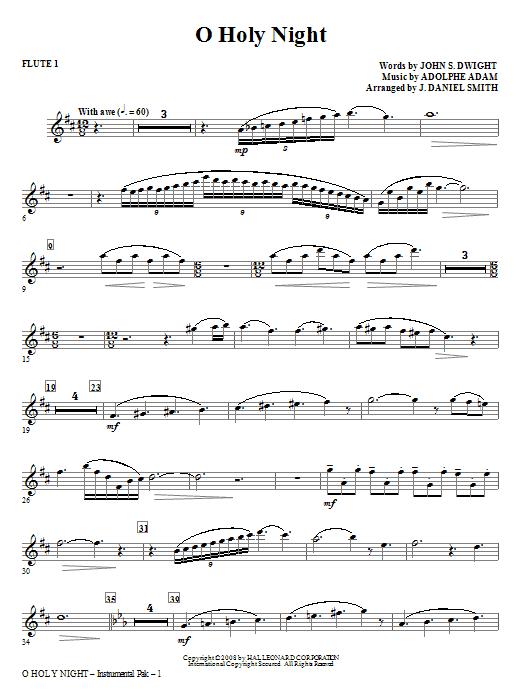 O Holy Night - Flute 1 Sheet Music