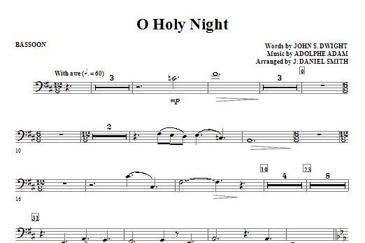 O Holy Night - Bassoon Sheet Music
