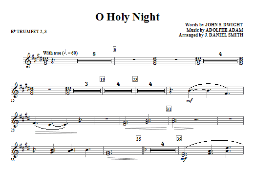 O Holy Night Bb Trumpet 23 Sheet Music Direct
