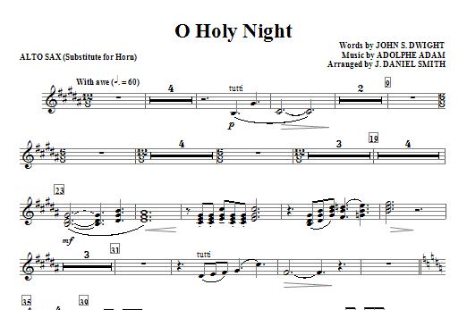 O Holy Night - Alto Sax (sub. Horn) Sheet Music