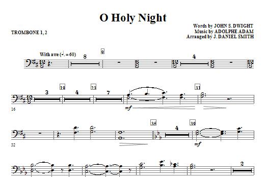 O Holy Night - Trombone 1 & 2 (Choir Instrumental Pak)
