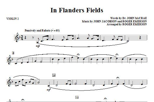In Flanders Fields - Violin 2 Sheet Music