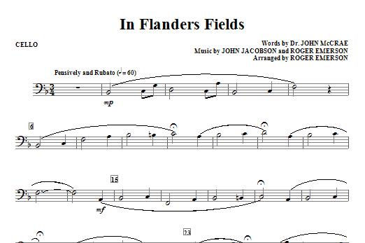 In Flanders Fields - Cello Sheet Music