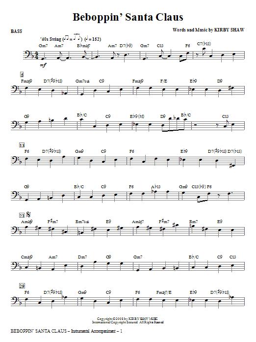 Beboppin' Santa Claus - Bass (Choir Instrumental Pak)