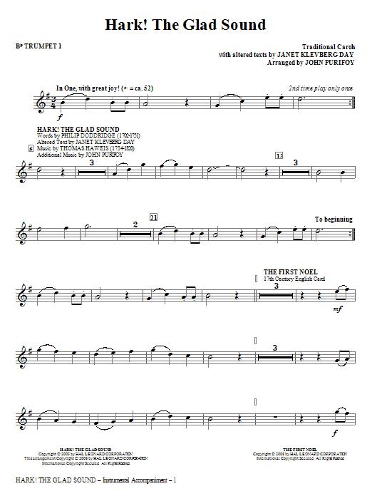 Hark! The Glad Sound (Medley) - Bb Trumpet 1 (Choir Instrumental Pak)