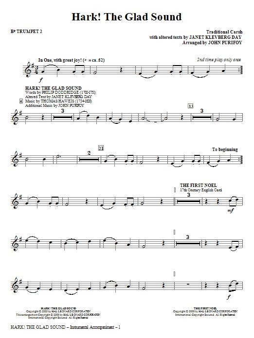 Hark! The Glad Sound (Medley) - Bb Trumpet 2 (Choir Instrumental Pak)