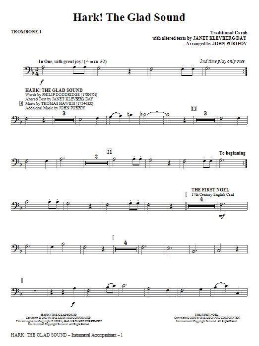 Hark! The Glad Sound (Medley) - Trombone 1 (Choir Instrumental Pak)