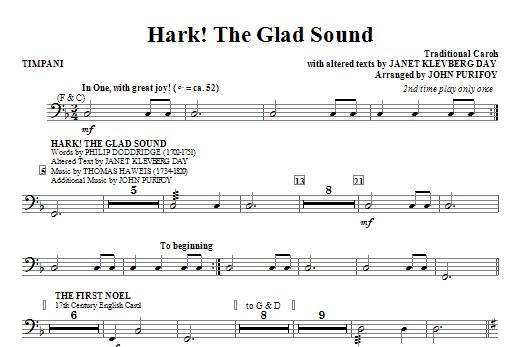 Hark! The Glad Sound (Medley) - Timpani (Choir Instrumental Pak)