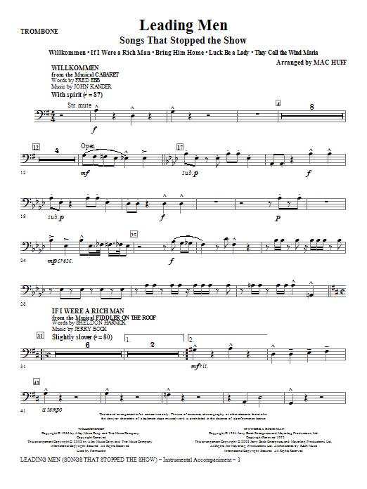 Leading Men: Songs That Stopped The Show (Medley) - Trombone (Choir Instrumental Pak)