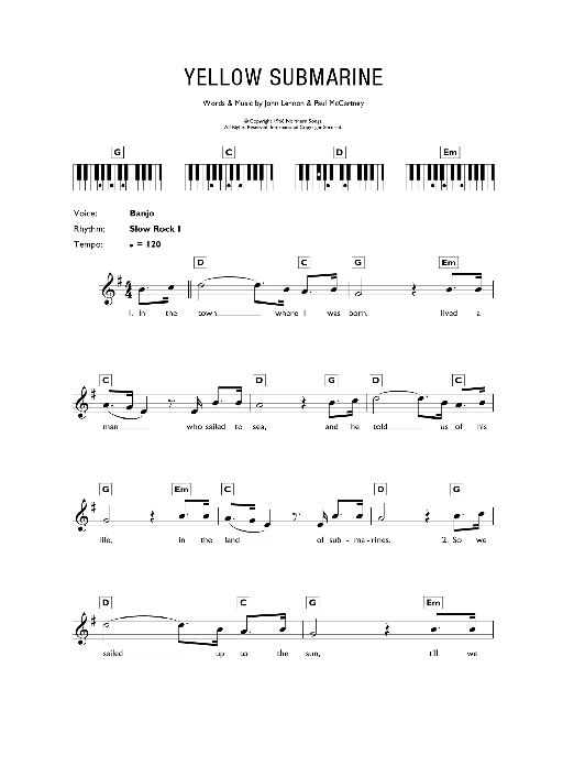 Yellow Submarine : Sheet Music Direct