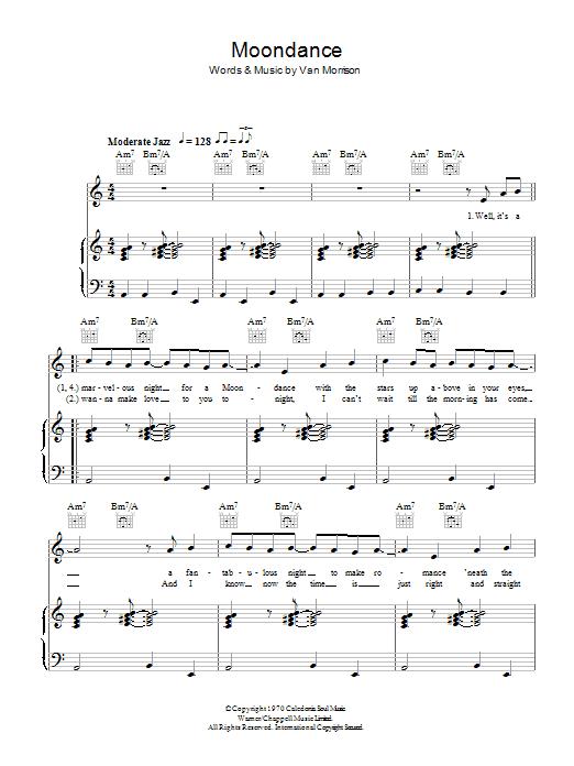 Moondance (Piano, Vocal & Guitar)