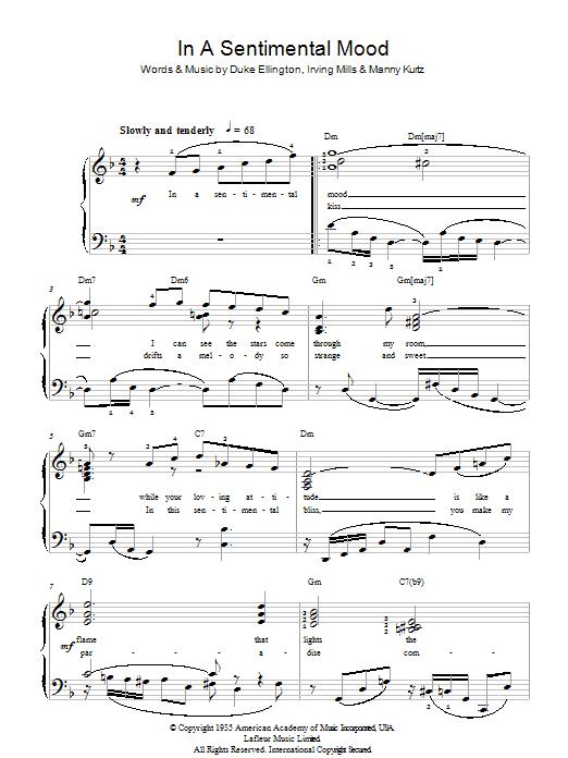 In A Sentimental Mood Sheet Music