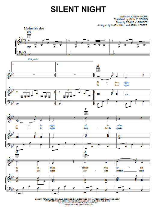 Silent Night (Piano, Vocal & Guitar (Right-Hand Melody))